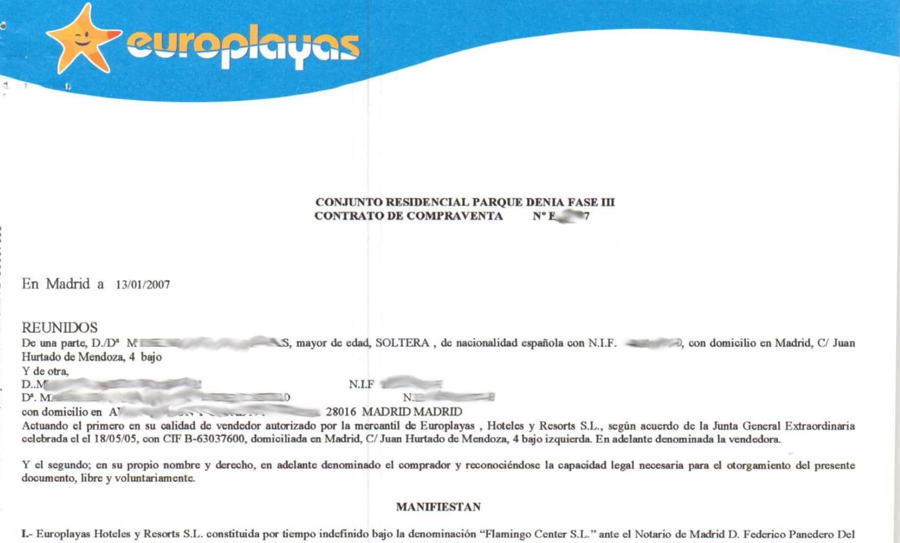 Demanda por nulidad de contrato Complejo RCI Alicante Perjudicados Multipropiedad  Pagos en contratos multipropiedad Blog Multipropiedad Tiempo Compartido Alicante parque Denia